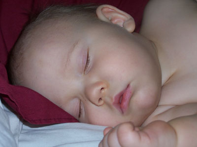 Sleeping baby - sent in by a customer
