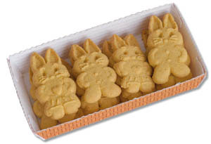 Organic four grain biscuits with carrots - young children love them