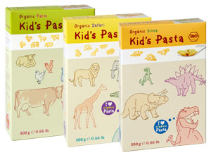 Animal shape pasta for babies and kids