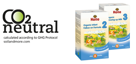Holle organic baby milk CO2 neutral
