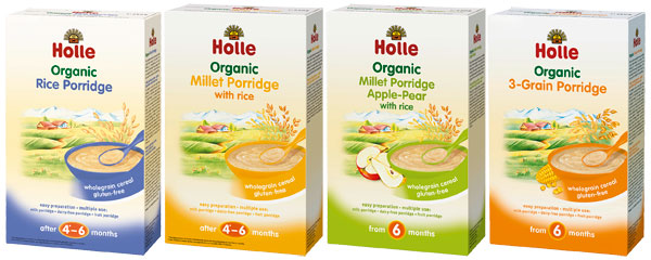 Gluten free baby porridges from Holle