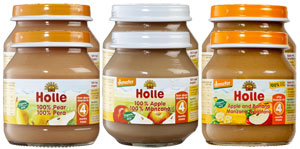 Pure fruit baby food by Holle