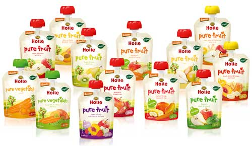 Holle organic baby food pouches