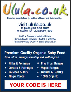 Claim your free organic baby food with Ulula's  customer card