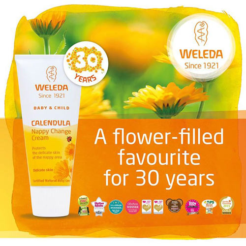 Weleda nappy change cream - happy bithday!