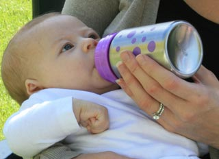 The best baby bottles? OrganicKidz baby bottles are made from stainless steel and have many advantages.