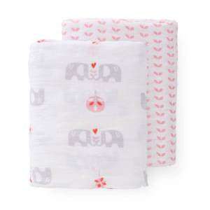 fresk-swaddle-set-2-pc-120x120-cm-elefant-pink-no-box