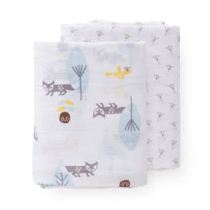 fresk-swaddle-set-2-pc-120x120-cm-fox-blue-no-box