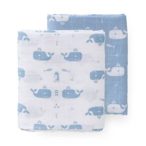 fresk-swaddle-set-2-pc-120x120-cm-whale-blue-fog-no-box
